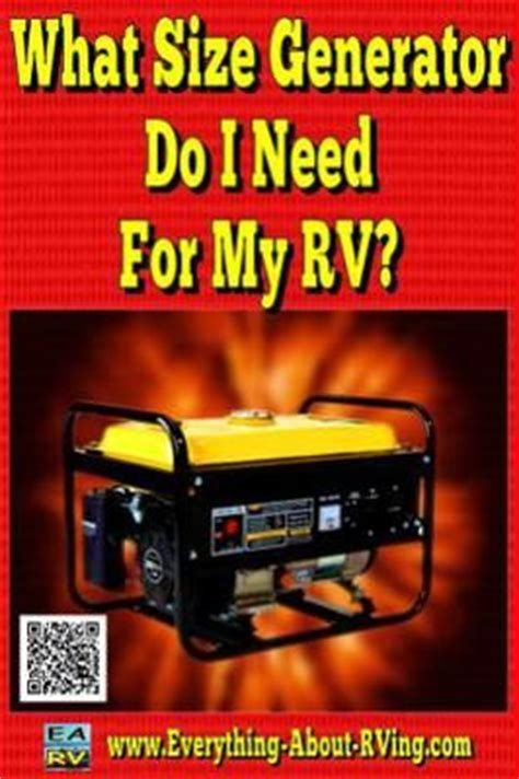 what size generator do i need for my rv how big a