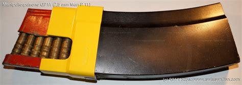 len laden ammunition details manipulierpatrone gp11 7 5 mm p 11