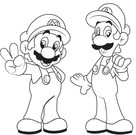 free mario and luigi coloring pages