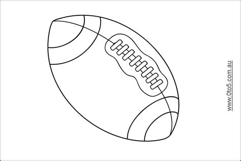 football cookie cutter template football printables coloring home