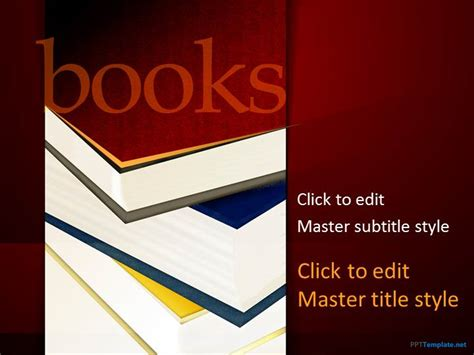 Free Books Ppt Template Powerpoint Book Template