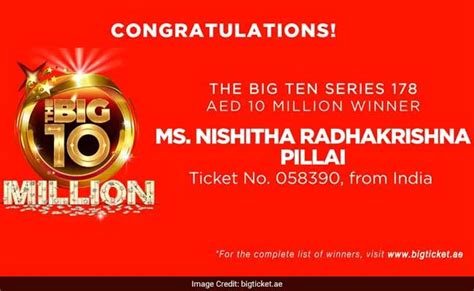 ticket bid indian doctor wins rs 17 5 crores in lottery in uae