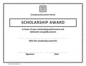 scholarship award certificate template free microsoft