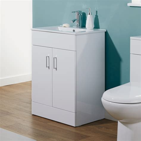 Minimalist Vanity by Premier 600mm Minimalist White Gloss Vanity Unit