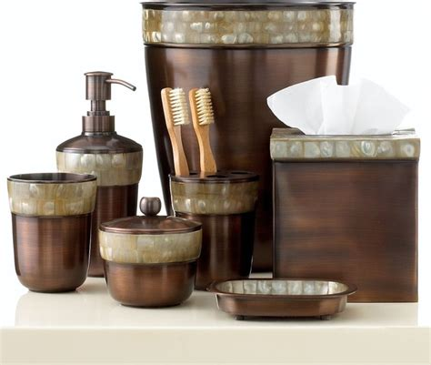 paradigm bath accessories opal copper collection