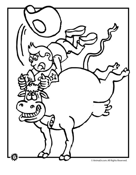 preschool rodeo coloring pages rodeo bull coloring page woo jr kids activities