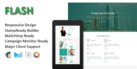 Flash Multipurpose Responsive Email Template St Ready Builder By Evethemes Flash Email Templates