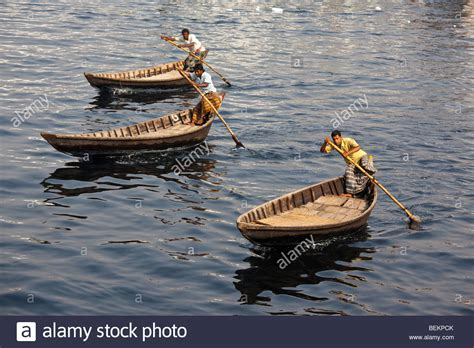 small boat on water dingi nouka small boats acting as water taxis on the