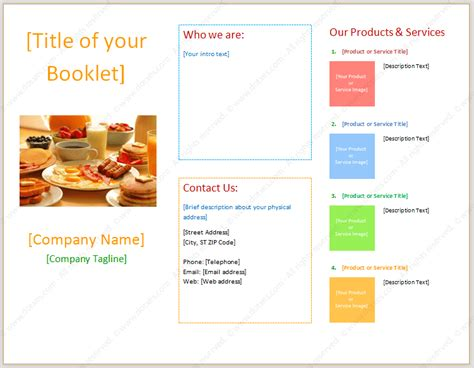 booklet template with three columns dotxes