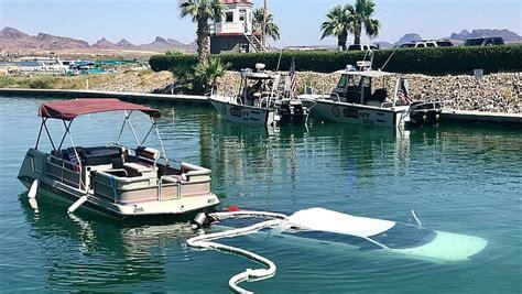 havasu boat crash june 2017 truck submerged in lake havasu the daily courier