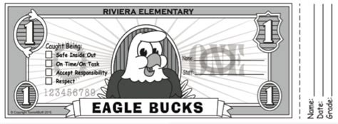 Pbis Roll Out Kit For Riviera Elementary Eagles Pbis Posters Pbis Bucks Template