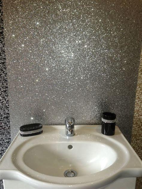 glitter wallpaper bathroom glitter splashback for bathroom google search pinteres