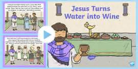 Wedding At Cana Ks1 by The Miracles Of Jesus Bible Stories Powerpoint Christianity