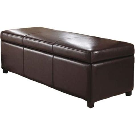 Large Faux Leather Ottoman Simpli Home Avalon Large Rectangular Faux Leather Storage Ottoman In Brown F 18a The Home
