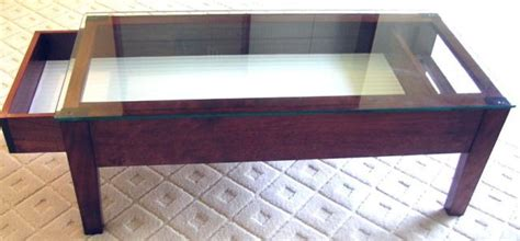 glass top coffee table with display drawer home design