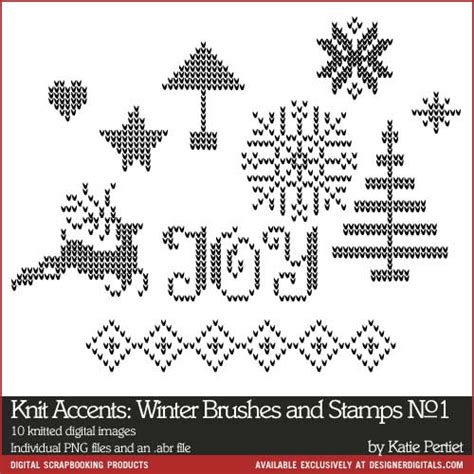 knit pattern photoshop brushes knitted accents winter brushes and sts no 01 katie