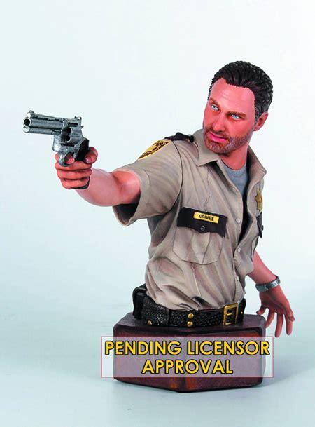 katso uglydolls sheriff rick grimes mini bust the walking dead bust