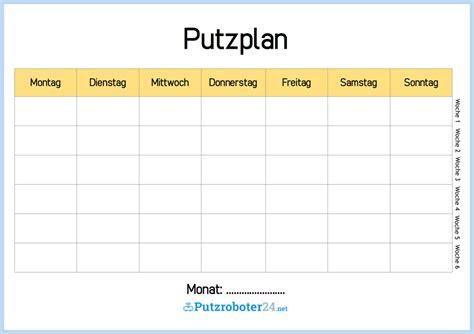 Muster Word Origin Putzplan Vorlage 8 Putzpl 228 Ne F 252 R Paare Wgs Singles Familien