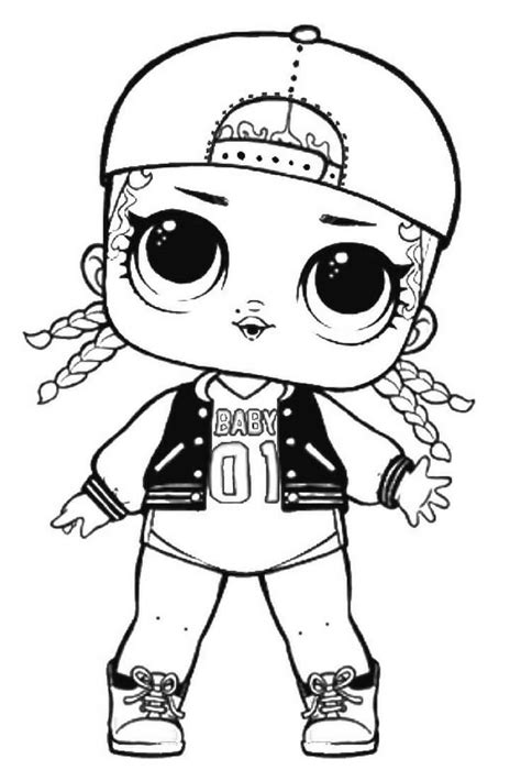 Coloring Page Lol Dolls by Mc Swag Lol Suprise Doll Coloring Page Lol Doll