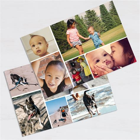 photo collage at home snapfish print at home cards chrismast cards ideas