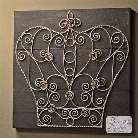 updated crown wall crown wall decor plum doodles