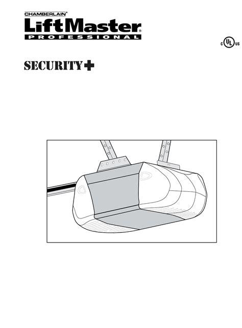 Chamberlain Garage Door Opener Manual 1 2 Hp Trackerac