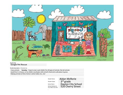 doodle 4 official entry form 2014 dcs student winner of state quot doodle 4 quot rhea review
