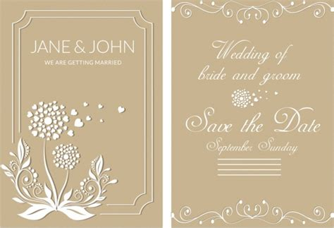 married card template wedding card background designs free vector