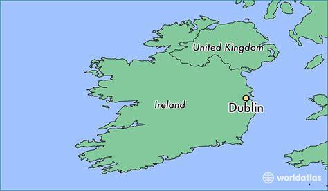 where is dublin ireland dublin leinster map