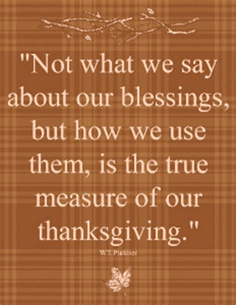 The Mixed Blessing Of Donations by How We Use Our Blessings Printable Thanksgiving Quote