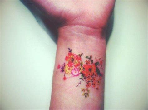 coloured wrist tattoos 10 beautiful flower tattoos for your wrist pretty designs