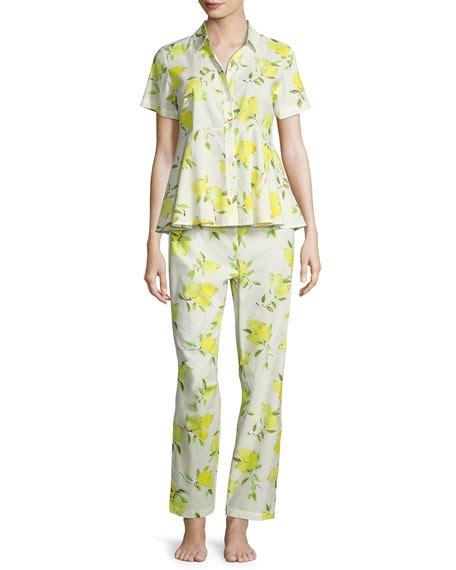 Pajamas Emon by Kate Spade New York Lemon Print Two Pajama Set
