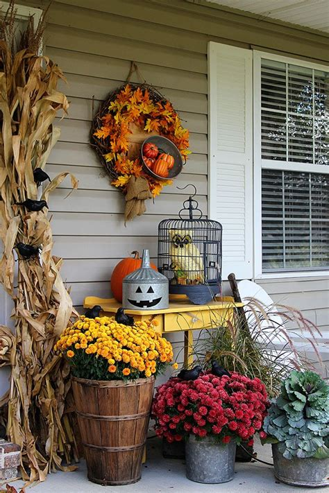 outdoor decorations ideas porch 57 cozy thanksgiving porch d 233 cor ideas digsdigs