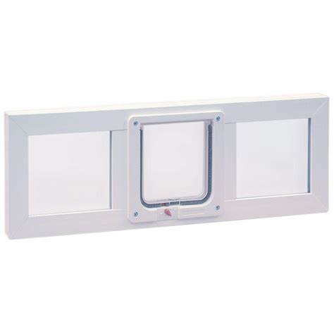 Cat Doors For Windows Decor Ideal Pet Products 6 25 In X 6 25 In Small Cat Flap Pet Door With Vinyl Frame For Installation