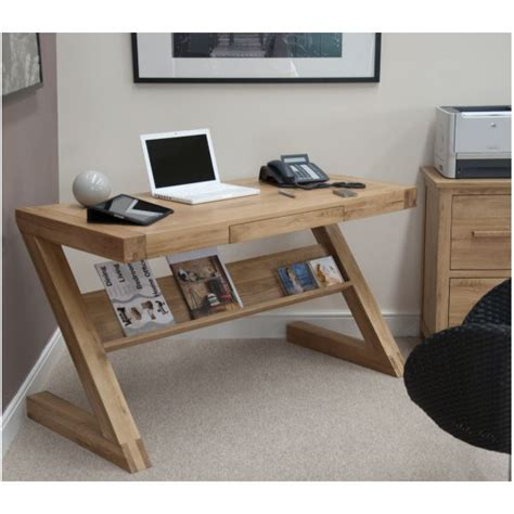 Designer Computer Desk by Zouk Solid Oak Designer Furniture Laptop Office Pc