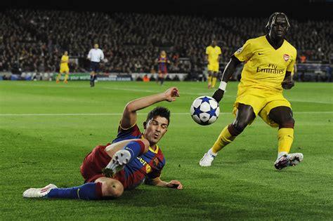 barcelona vs arsenal david villa in barcelona v arsenal uefa chions league