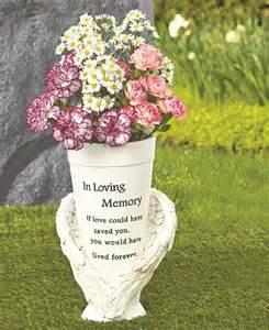 memorial vase flowers cemetery headstone grave