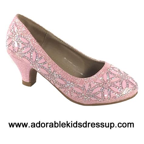 adorable kids dress up kids high heels shoes girls tea high heel dress shoes fancy pink party heels for kids