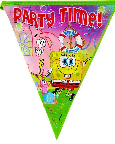Banner Spongeboob Ii spongebob squarepants flag banner bunting decorations 1 pack ebay