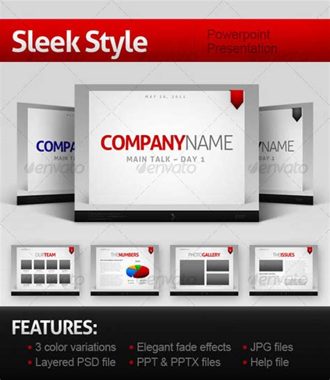 30 Best Powerpoint Templates Template Idesignow Sleek Powerpoint Templates