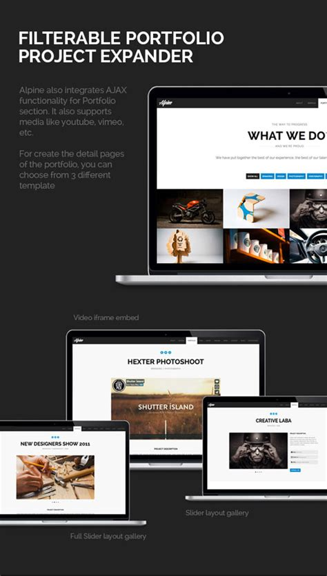 theme wordpress one page responsive wp theme of the day 141 alpine responsive one page