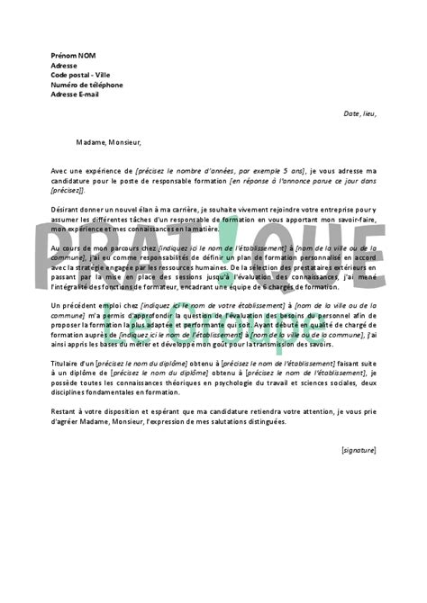 Lettre De Motivation Emploi Banque Finance Modele Lettre De Motivation Formation Professionnelle Document