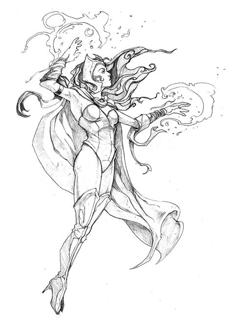 coloring pages scarlet witch scarlet witch coloring pages printable scarlet best free