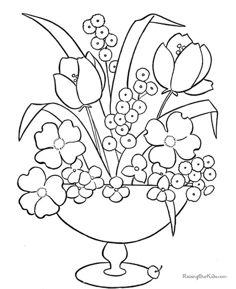 coloring pages of may flowers may flowers coloring pages vault printable