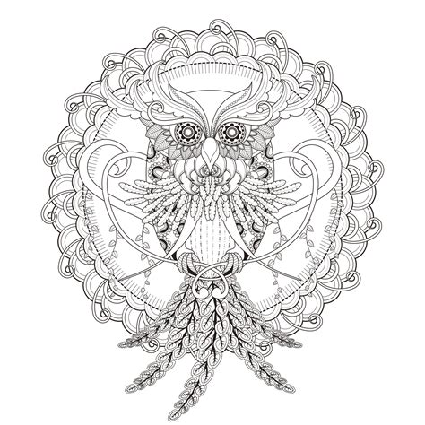 coloring pages mandala owl mandala owl by kchung mandalas coloring pages for