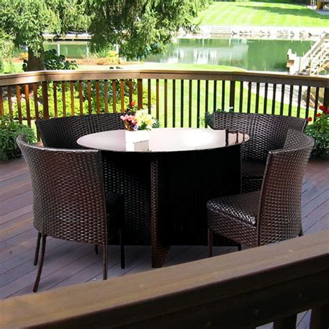 american country style dark brown pe rattan all weather