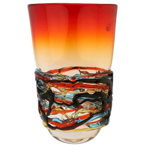 murano glass vase value murano glass vases murano glass vesuvio oval vase