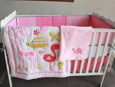 Bababed Baby Blanket Tiny Flamingo pink flamingo elephant animals crib bedding set