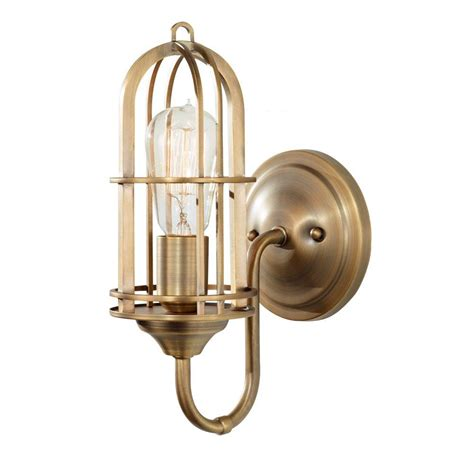 Antique Vanity Lights Feiss Renewal Antique Brass Vanity Light Wb1703dab The Home Depot