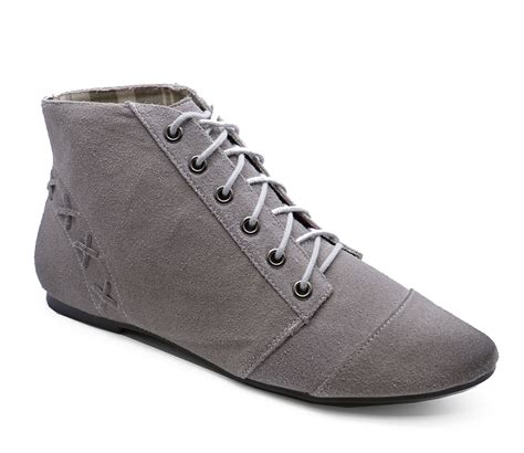 grey lace up pixie boho ankle womens